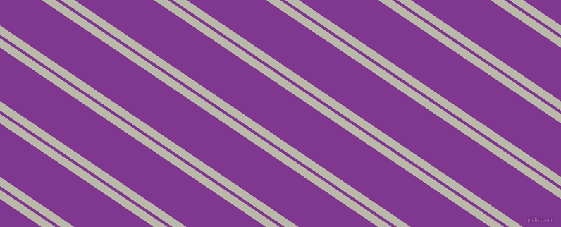146 degree angles dual striped line, 11 pixel line width, 4 and 63 pixels line spacing, Mist Grey and Vivid Violet dual two line striped seamless tileable
