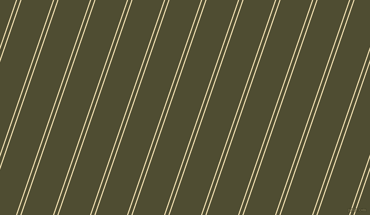 71 degree angle dual stripe lines, 2 pixel lines width, 6 and 58 pixel line spacing, Moccasin and Camouflage dual two line striped seamless tileable