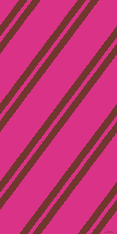 53 degree angle dual stripes line, 22 pixel line width, 12 and 97 pixel line spacing, Mocha and Deep Cerise dual two line striped seamless tileable