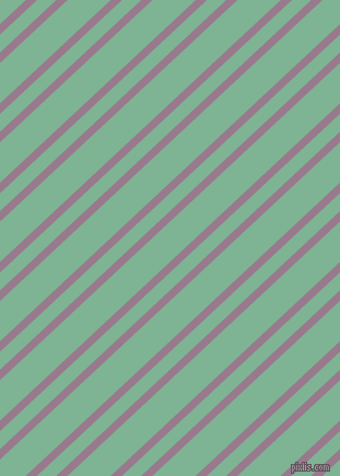43 degree angles dual stripe lines, 7 pixel lines width, 12 and 27 pixels line spacing, Mountbatten Pink and Padua dual two line striped seamless tileable