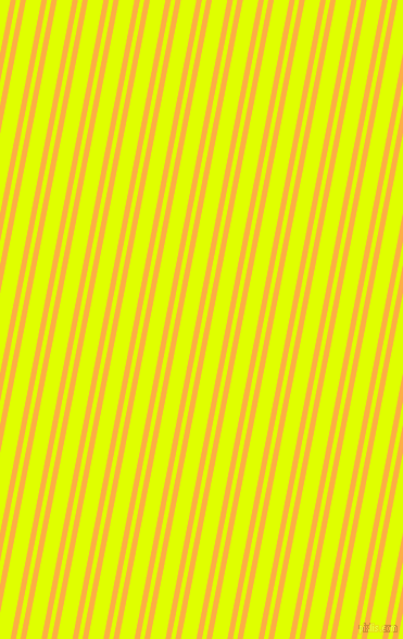 79 degree angles dual stripe lines, 5 pixel lines width, 4 and 14 pixels line spacing, My Sin and Chartreuse Yellow dual two line striped seamless tileable