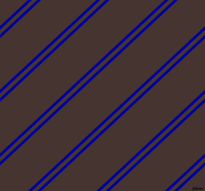 43 degree angle dual stripes line, 9 pixel line width, 12 and 126 pixel line spacing, New Midnight Blue and Rebel dual two line striped seamless tileable