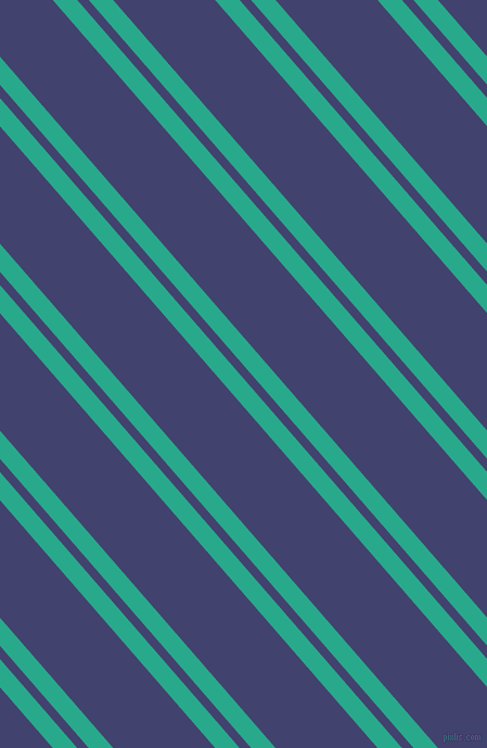 131 degree angles dual striped line, 17 pixel line width, 8 and 71 pixels line spacing, Niagara and Corn Flower Blue dual two line striped seamless tileable
