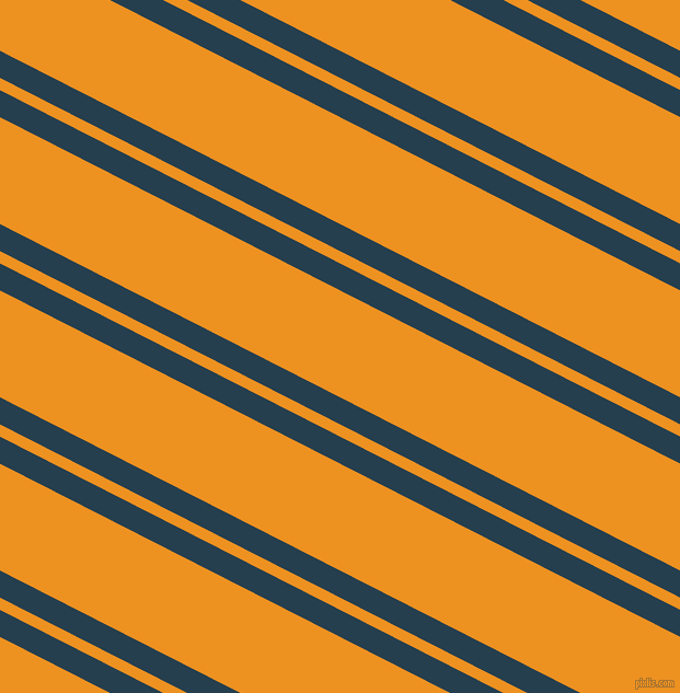 153 degree angle dual striped lines, 22 pixel lines width, 10 and 87 pixel line spacing, Nile Blue and Carrot Orange dual two line striped seamless tileable