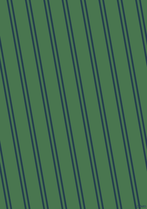 100 degree angle dual stripe line, 7 pixel line width, 8 and 50 pixel line spacing, Nile Blue and Killarney dual two line striped seamless tileable