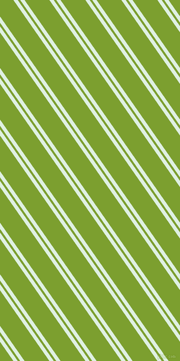 125 degree angle dual stripe line, 7 pixel line width, 4 and 40 pixel line spacing, Off Green and Sushi dual two line striped seamless tileable