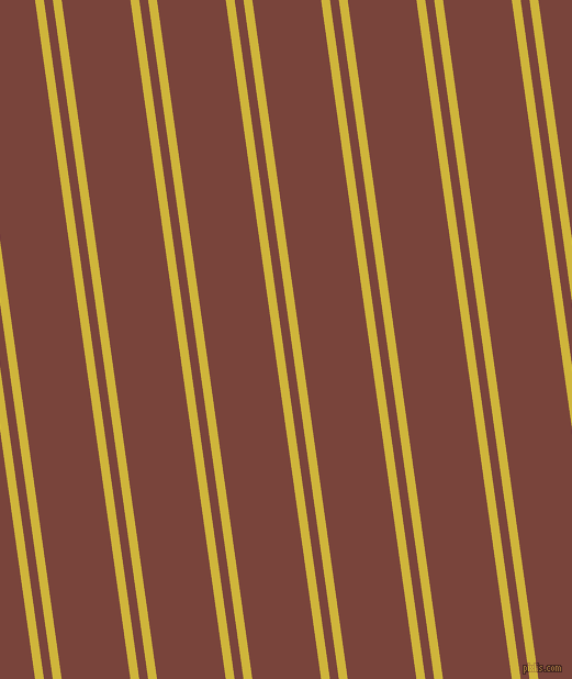 98 degree angle dual striped lines, 8 pixel lines width, 8 and 62 pixel line spacing, Old Gold and Bole dual two line striped seamless tileable