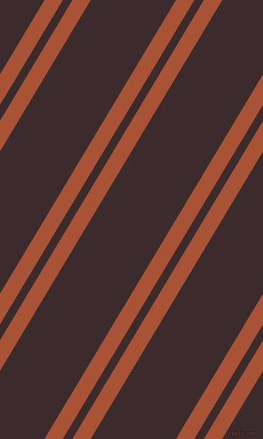 59 degree angles dual striped lines, 23 pixel lines width, 12 and 107 pixels line spacing, Orange Roughy and Havana dual two line striped seamless tileable