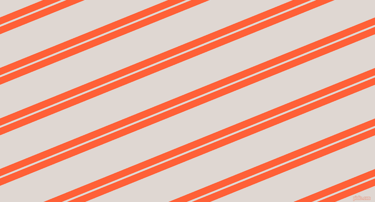 22 degree angles dual stripe line, 14 pixel line width, 4 and 64 pixels line spacing, Outrageous Orange and Bon Jour dual two line striped seamless tileable
