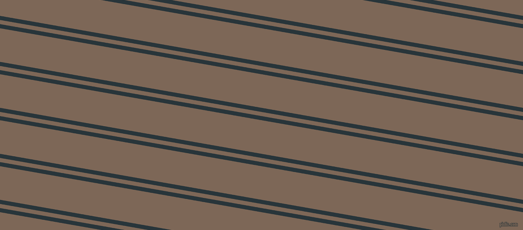 170 degree angles dual stripes line, 8 pixel line width, 8 and 65 pixels line spacing, Oxford Blue and Roman Coffee dual two line striped seamless tileable
