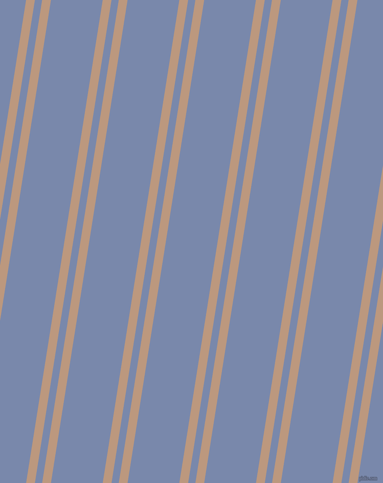 81 degree angles dual stripes lines, 17 pixel lines width, 14 and 100 pixels line spacing, Pale Taupe and Ship Cove dual two line striped seamless tileable