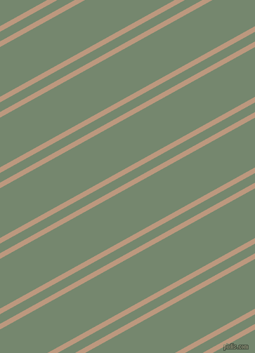 29 degree angle dual stripe lines, 7 pixel lines width, 12 and 62 pixel line spacing, Pale Taupe and Xanadu dual two line striped seamless tileable