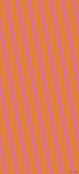 101 degree angles dual stripes lines, 8 pixel lines width, 2 and 29 pixels line spacingPale Violet Red and Tree Poppy dual two line striped seamless tileable