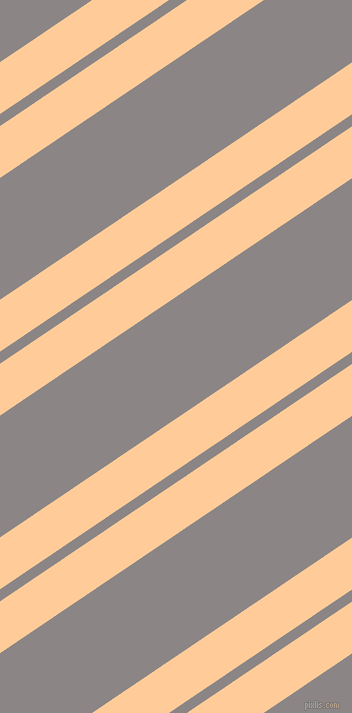 34 degree angles dual stripes line, 43 pixel line width, 10 and 101 pixels line spacing, Peach-Orange and Suva Grey dual two line striped seamless tileable
