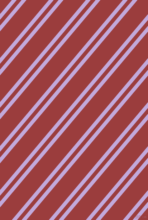 50 degree angles dual stripe line, 12 pixel line width, 12 and 55 pixels line spacing, Perfume and Mexican Red dual two line striped seamless tileable