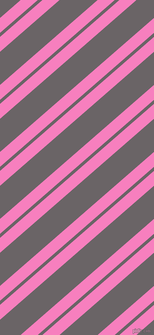 41 degree angles dual stripes lines, 22 pixel lines width, 6 and 49 pixels line spacing, Persian Pink and Scorpion dual two line striped seamless tileable