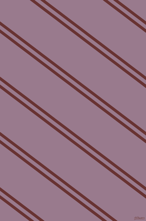 143 degree angles dual stripe line, 10 pixel line width, 12 and 122 pixels line spacing, Persian Plum and Mountbatten Pink dual two line striped seamless tileable