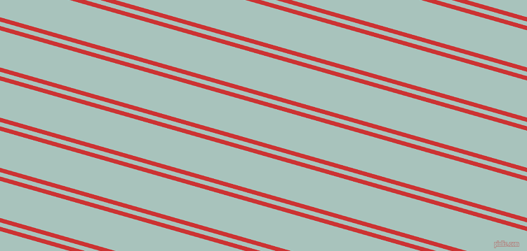164 degree angles dual stripe lines, 6 pixel lines width, 6 and 51 pixels line spacing, Persian Red and Opal dual two line striped seamless tileable