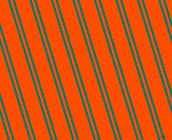 107 degree angle dual stripes line, 7 pixel line width, 8 and 46 pixel line spacing, Pine Green and Vermilion dual two line striped seamless tileable
