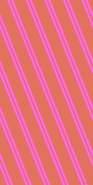 112 degree angle dual stripe line, 7 pixel line width, 6 and 41 pixel line spacing, Pink Flamingo and Terra Cotta dual two line striped seamless tileable