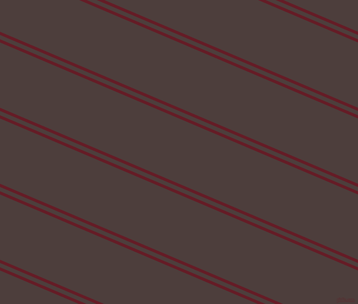 157 degree angle dual stripes line, 6 pixel line width, 8 and 122 pixel line spacing, Pohutukawa and Crater Brown dual two line striped seamless tileable