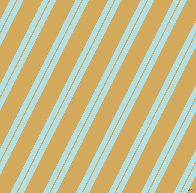 63 degree angle dual striped lines, 18 pixel lines width, 4 and 57 pixel line spacing, Powder Blue and Apache dual two line striped seamless tileable