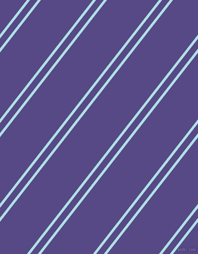 52 degree angle dual stripes lines, 5 pixel lines width, 12 and 81 pixel line spacing, Powder Blue and Victoria dual two line striped seamless tileable