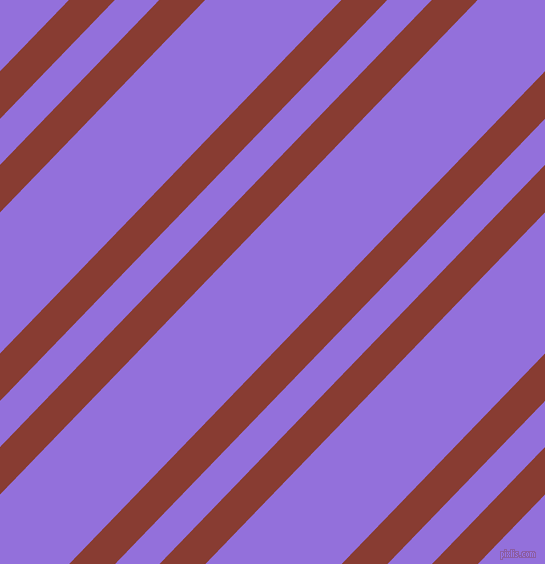 46 degree angle dual stripes lines, 33 pixel lines width, 32 and 98 pixel line spacing, Prairie Sand and Medium Purple dual two line striped seamless tileable