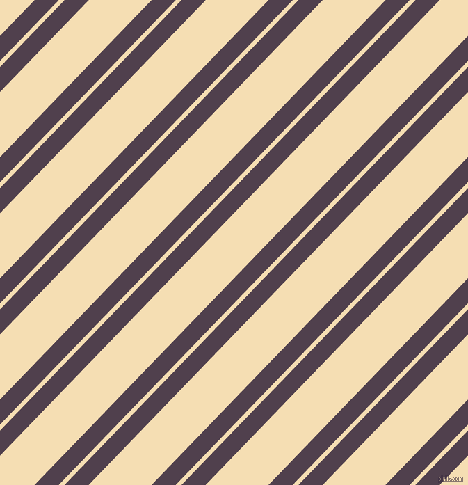 46 degree angles dual stripe line, 25 pixel line width, 6 and 65 pixels line spacingPurple Taupe and Wheat dual two line striped seamless tileable