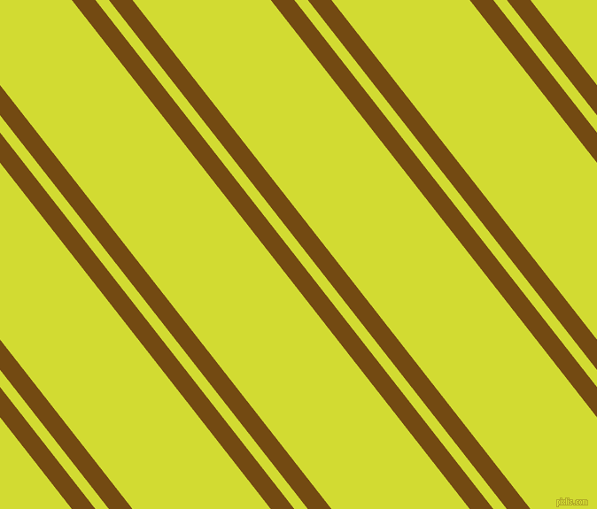 128 degree angle dual striped line, 21 pixel line width, 12 and 123 pixel line spacing, Raw Umber and Bitter Lemon dual two line striped seamless tileable