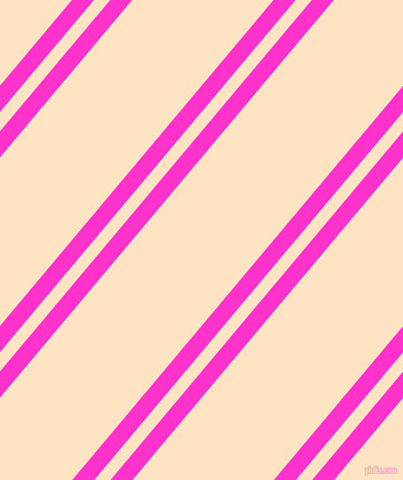50 degree angles dual striped line, 19 pixel line width, 14 and 122 pixels line spacing, Razzle Dazzle Rose and Bisque dual two line striped seamless tileable