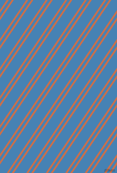 56 degree angles dual stripe line, 6 pixel line width, 8 and 35 pixels line spacing, Red Damask and Steel Blue dual two line striped seamless tileable