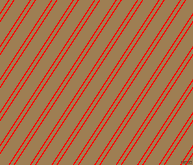 57 degree angles dual striped lines, 4 pixel lines width, 10 and 42 pixels line spacing, Red and Muesli dual two line striped seamless tileable