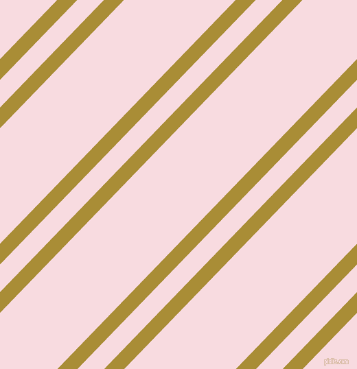 46 degree angle dual stripe line, 21 pixel line width, 28 and 117 pixel line spacing, Reef Gold and Carousel Pink dual two line striped seamless tileable