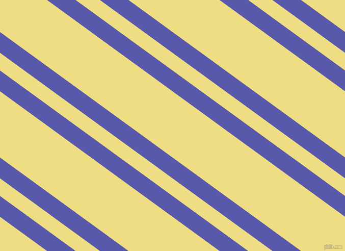 144 degree angles dual stripe lines, 33 pixel lines width, 28 and 105 pixels line spacing, Rich Blue and Light Goldenrod dual two line striped seamless tileable