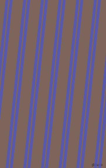 84 degree angle dual stripe line, 10 pixel line width, 4 and 36 pixel line spacing, Rich Blue and Russett dual two line striped seamless tileable
