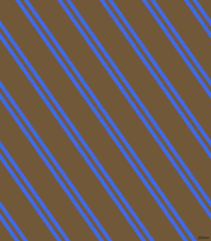 125 degree angles dual stripe line, 13 pixel line width, 10 and 78 pixels line spacing, Royal Blue and Shingle Fawn dual two line striped seamless tileable