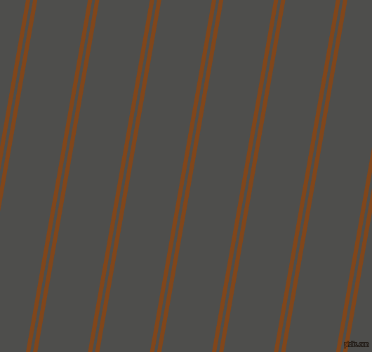 80 degree angle dual stripe line, 6 pixel line width, 4 and 71 pixel line spacingRusset and Ship Grey dual two line striped seamless tileable
