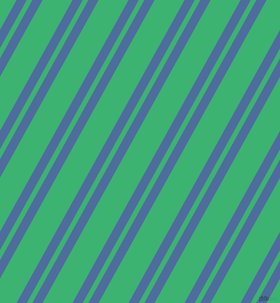 61 degree angle dual striped lines, 18 pixel lines width, 10 and 53 pixel line spacing, San Marino and Medium Sea Green dual two line striped seamless tileable