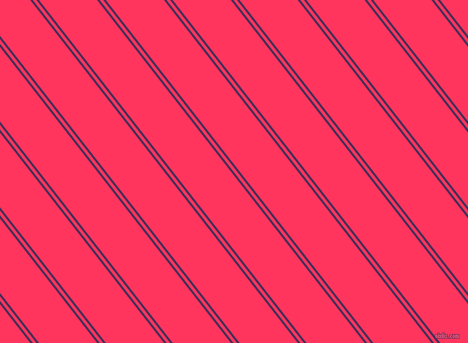 128 degree angle dual stripes line, 3 pixel line width, 4 and 66 pixel line spacing, Scarlet Gum and Radical Red dual two line striped seamless tileable