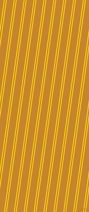 82 degree angles dual stripes line, 3 pixel line width, 4 and 24 pixels line spacing, School Bus Yellow and Geebung dual two line striped seamless tileable