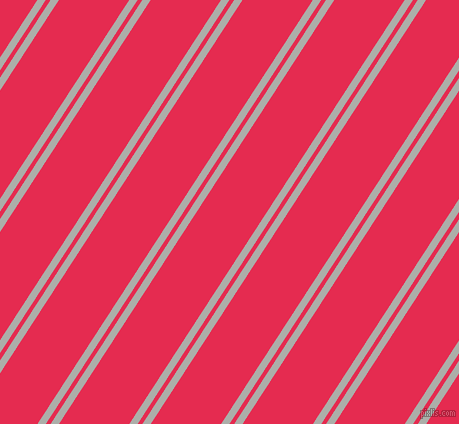 57 degree angles dual stripes lines, 7 pixel lines width, 4 and 59 pixels line spacing, Silver Chalice and Amaranth dual two line striped seamless tileable
