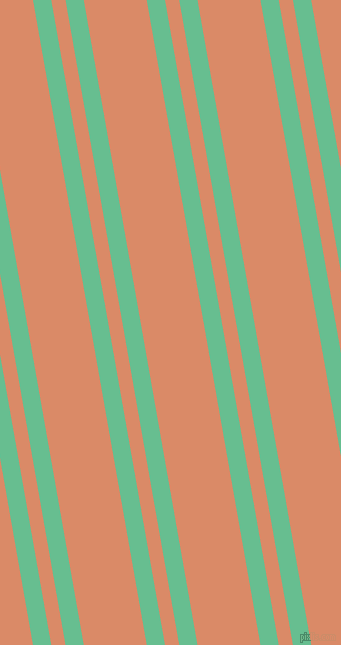 100 degree angles dual striped line, 18 pixel line width, 14 and 62 pixels line spacing, Silver Tree and Copper dual two line striped seamless tileable