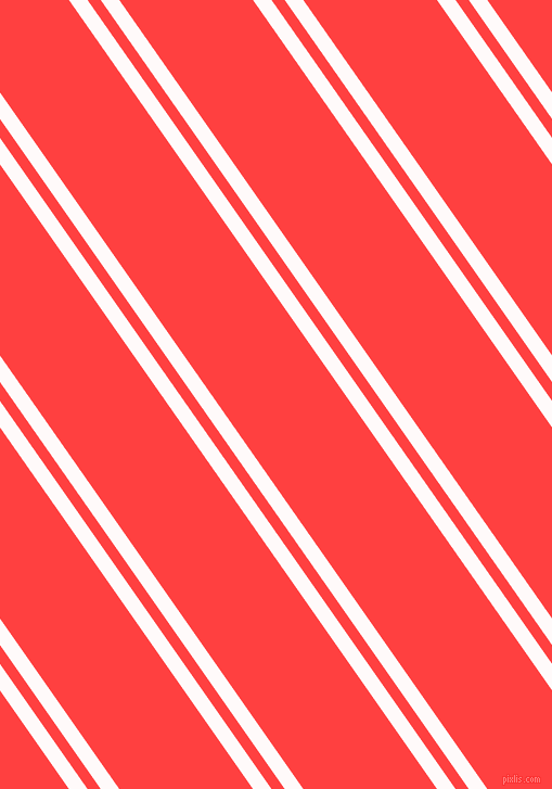 125 degree angles dual striped lines, 14 pixel lines width, 10 and 101 pixels line spacing, Snow and Coral Red dual two line striped seamless tileable