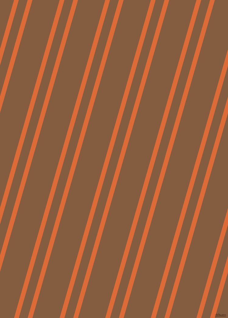 74 degree angles dual striped line, 15 pixel line width, 28 and 86 pixels line spacing, Sorbus and Potters Clay dual two line striped seamless tileable