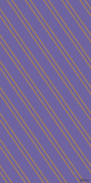 125 degree angle dual striped line, 5 pixel line width, 10 and 38 pixel line spacing, Sorrell Brown and Scampi dual two line striped seamless tileable