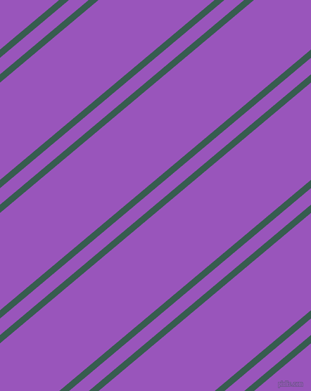 40 degree angles dual stripes lines, 9 pixel lines width, 18 and 106 pixels line spacing, Spectra and Deep Lilac dual two line striped seamless tileable