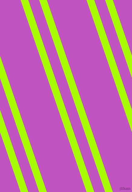 109 degree angle dual stripe line, 24 pixel line width, 34 and 124 pixel line spacing, Spring Bud and Fuchsia dual two line striped seamless tileable