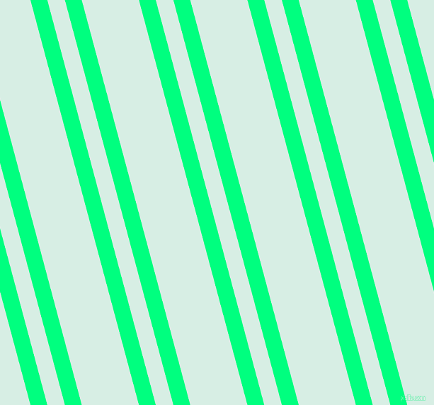 105 degree angle dual stripe line, 23 pixel line width, 24 and 78 pixel line spacing, Spring Green and White Ice dual two line striped seamless tileable