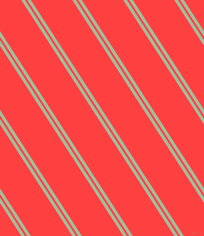 123 degree angles dual stripe lines, 10 pixel lines width, 6 and 113 pixels line spacing, Spring Rain and Coral Red dual two line striped seamless tileable